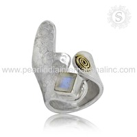 Appealing Rainbow Gemstone Ring Sterling Silver Jewelry Supplier 925 Silver Jewelry Wholesaler