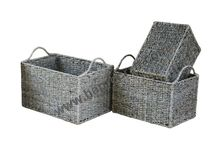 Items 2016, Seagrass storage basket, metal frame with handles - HS 4560/4