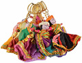 Handmade handicraft Fabric Decorative rajasthani man women designed Key chain