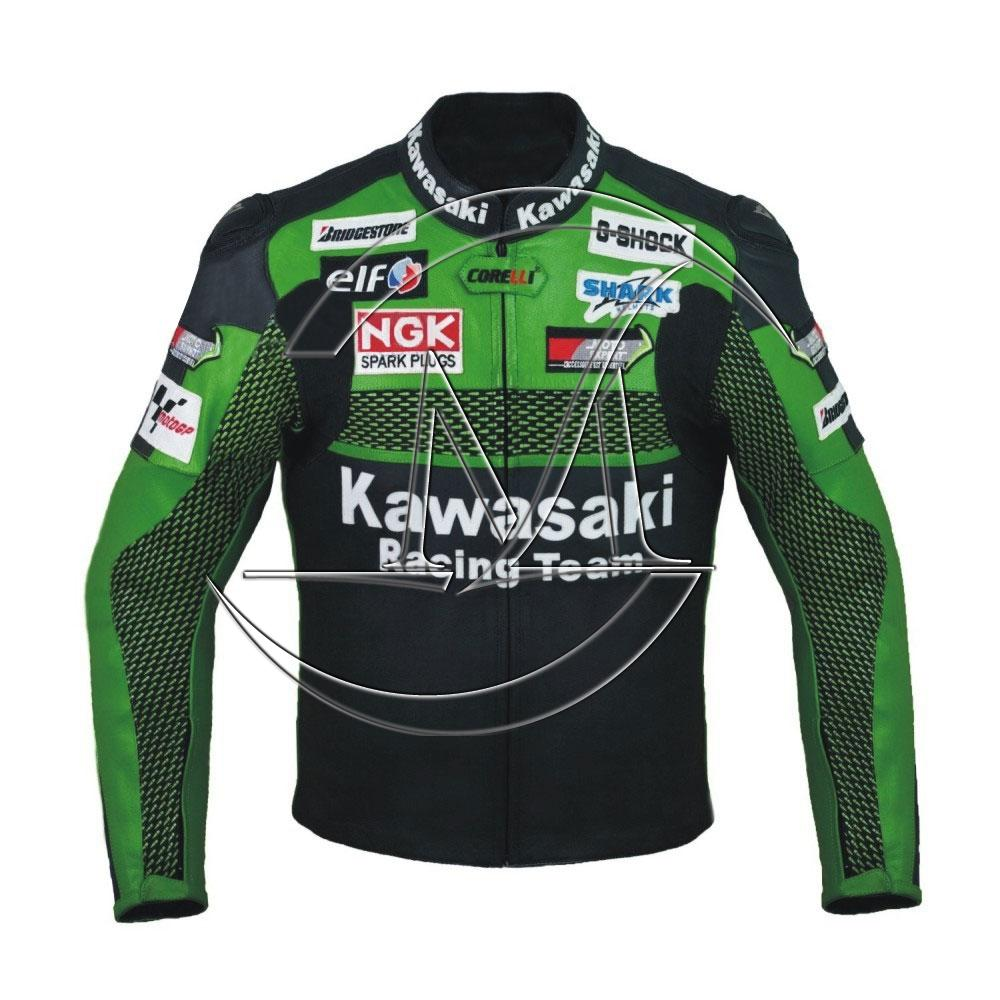 Kawasaki monster racing Leather Jacket