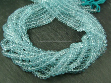 Sky Blue Topaz Gemstone Rondelle Beads Strands