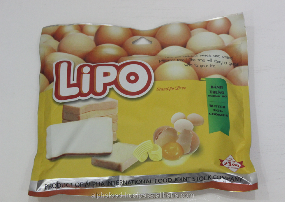 Like Biscuits and Chocolate from Dubai LIPO Butter Egg Cookies with 230G Bag Packaging