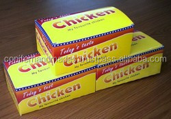 custom printed boxes for chicken packaging for fast food chains, restaraunts, food take away