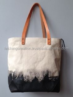 Beautiful wedding tote bags , Zipper Canvas Tote Bags