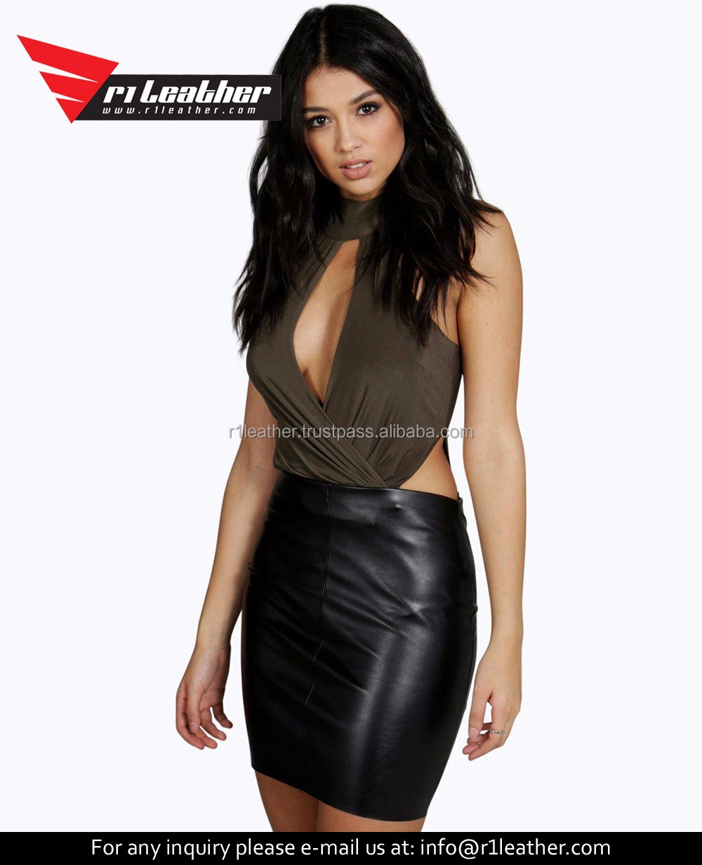 Latest Design Skirts New Style Leather Skirts Ladies Fashion Short Skirt