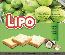 Vietnam Delicious Good Price LIPO 230G Coconut Cookies for Breakfast and Snack
