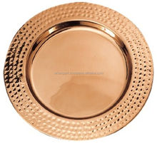 copper plated hammerred charger plates