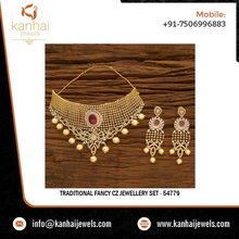 Traditional Fancy CZ Jewellery Set