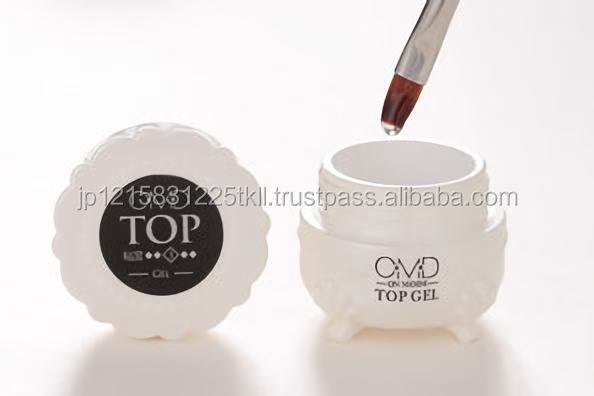 Transparent durable top gel for nails UV and LED made in Japan