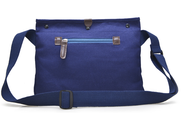 Waxed Canvas Leather Messenger Bag for Men
