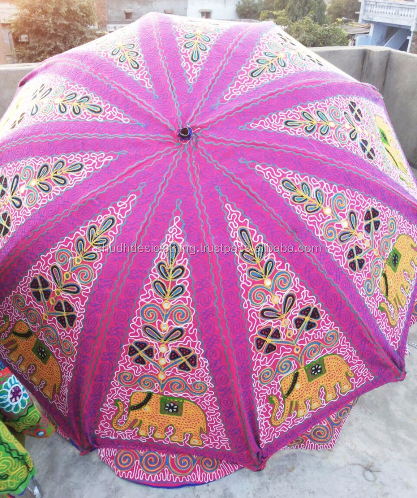 2016 All New Attractive Beautiful Indian Handmade Art Work Traditional Garaden Umbrella - Large Size