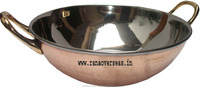Copper Steel Serving Dish in Kadhai Style