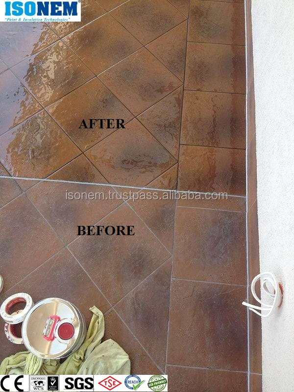 CLEAR COAT, LIQUID GLASS PAINT EXCELLENT ADHESION ON TILE, GLASS, MARBLE, CERAMIC, CONCRETE, SEALER