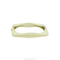 Indian Pave Diamond Bangle, wholesale Jewelry 925 Sterling Silver Bangle, Wedding Bangle For Women