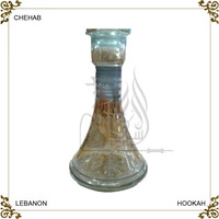 Fashion lebanese design custom shisha hookah glass