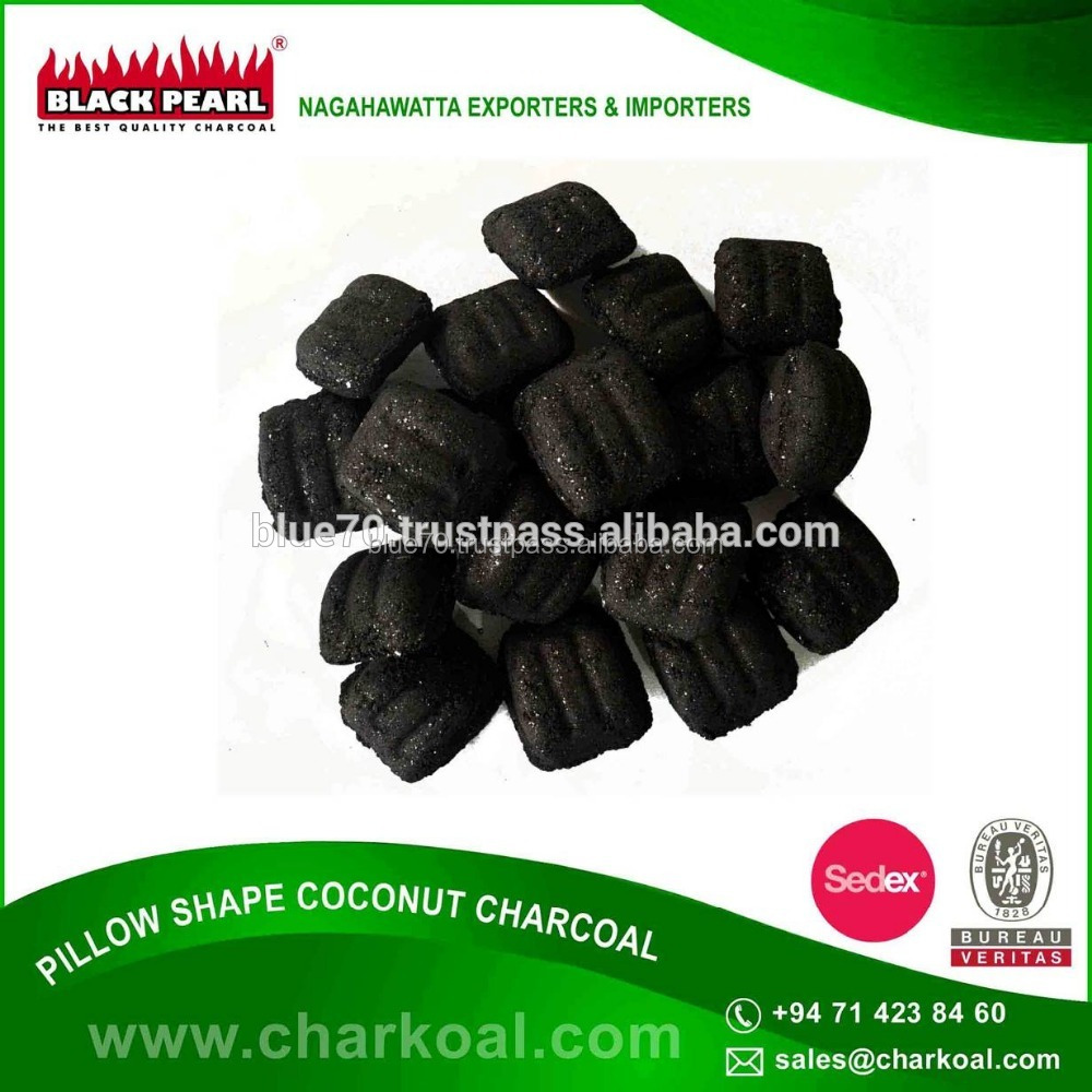Best Pillow Shape Charcoal Briquette Made From Coconut Shells And Not Trees/wood