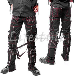 Punk Bondage Trousers, Bondage Shorts, Gothic Trousers