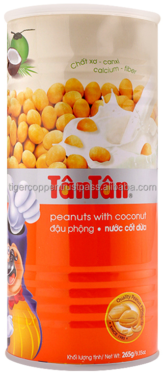 TAN TAN ROASTED PEANUTS WITH COCONUT JUICE TIN 265G