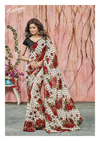 Breathtaking Off White Georgette Designer Saree/plain saree chiffon saree/wholesale saree