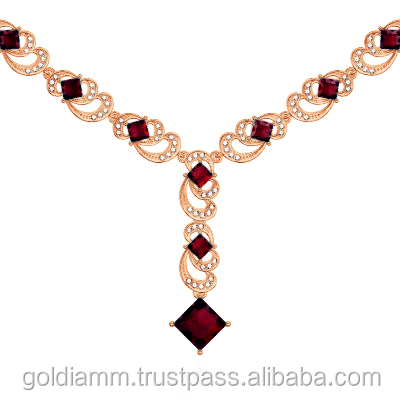 Diamonds and Ruby necklace pendants luxury jewelry
