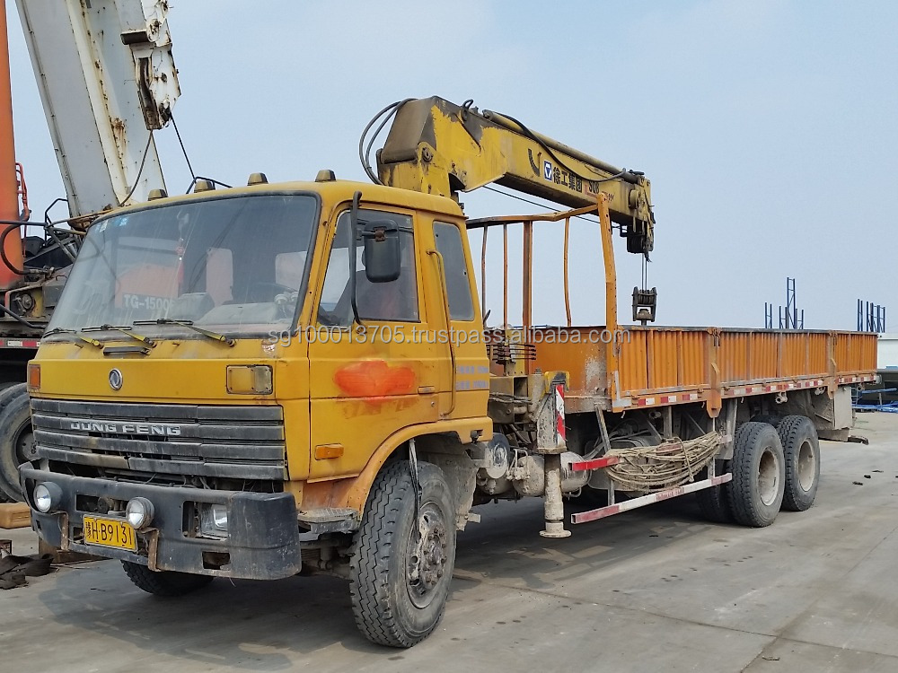 XCMG used truck mounted crane used china dongfeng chassis crane truck 8ton