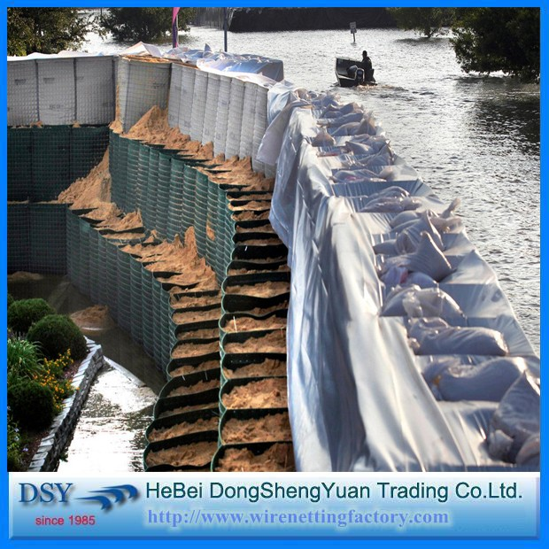 10 years golden supplier high quality Galvanized Hesco Flood Lined Barriers customized