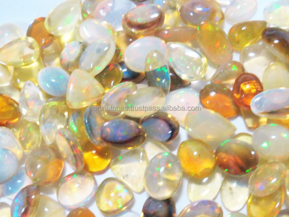 AA grade BIG Size 10mm and Bigger Rainbow Fire Ethiopian Welo Opal Gemstone Cabochons