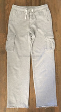 Kids white color sweatpants with knee pockets/Knee pockets kids white color sweatpants