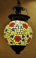 GlassCeiling Lamp Indian Hanging Stained Glass Lamp
