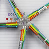 6 Color Multicolor Ballpoint Pen Office School Supplies