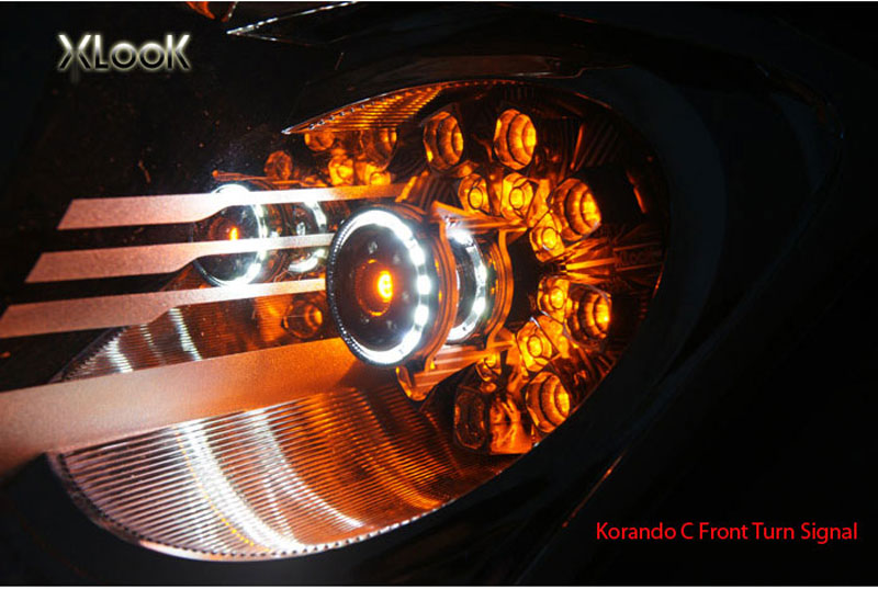[XLOOK] SsangYong Korando C - Front LED TRIPPLE Turn Signal Modules (no.1702)