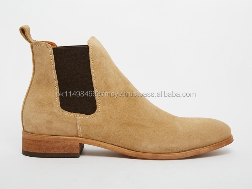 Chelsea Boots / Handmade mens fashion ankle high genuine suede leather boots Men ankle boots