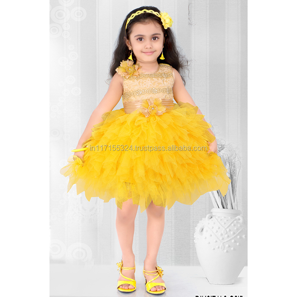 Indian wholesale rate online kids wear girls frock shopping latest design fashionable dress