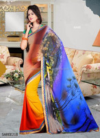WHOLESALE LOT ONLINE GEORGETTE SAREE-DAILY WEAR AND PARTY WEAR GEORGETTE SAREE-NEW FASHION GEORGETTE SARI