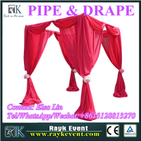 Red Mandap wedding pipe and drape wholesale pipe and drape from China factory