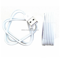 Free shipping for USB sync and charging 1 meter white cable for iphone 5 iphone 5s 6 6s plus