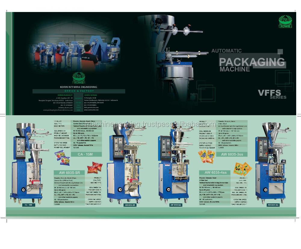 Vertical Fill Form Seal Machine AW Series