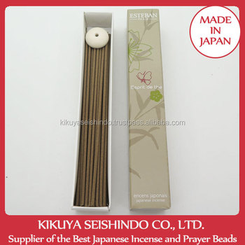 Esprit de the, Japanese Incense Discovery Box Series, Esteban, 40 sticks and Incense burner, aromatic organic herbs, incense