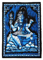 "Wall Hanging Tapestry Religious Lord Shiva Digital Print Decor Art 42"" X 30""TP863"