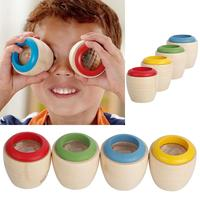 Cute Wooden Educational Magic Kaleidoscope Baby Kid Children Learning Puzzle Toy #71362