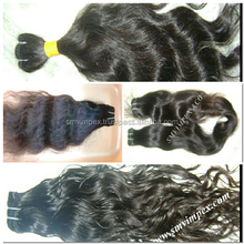2017 HOT SELLING unprocessed 7a virgin remy human hair shedding free and tangle free hair HAND MADE Extensions