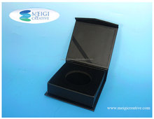 Rigid set-up Box, Hot Stamp Custom Logo, Packaging for coins