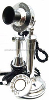 silver candlestick telephones