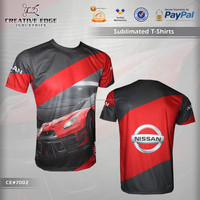 Nissan GTR Full Sublimation Printing T-Shirt / Unisex Sublimation Printing Tee Shirts / Classic Fit Mens Sublimated T Shirts