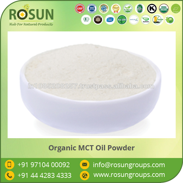 Hygienically Made Organic Fractionated Coconut Oil Powder Selling by Top Ranked Manufacturer