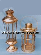 Antique Color Table Top brass Metal lanterns