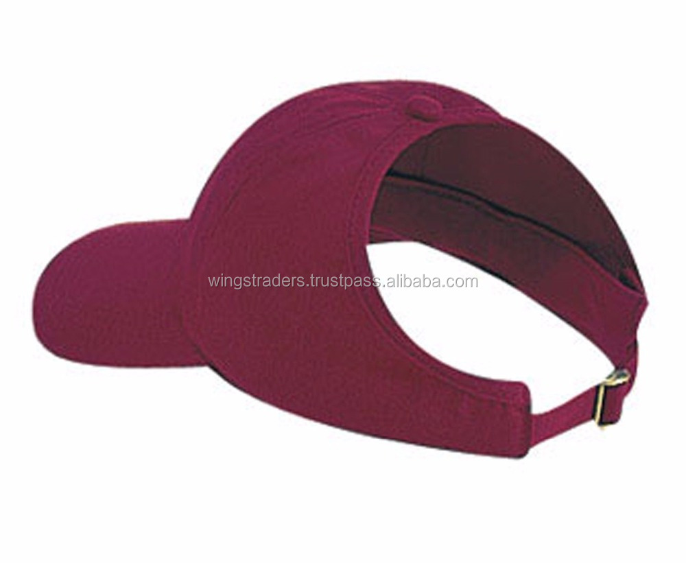MAROON VISOR PONY TAIL HAT HATS WOMENS CAP