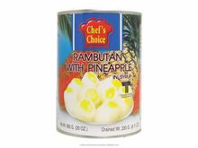 High quality from Thailand rambutan with pineapple in syrup