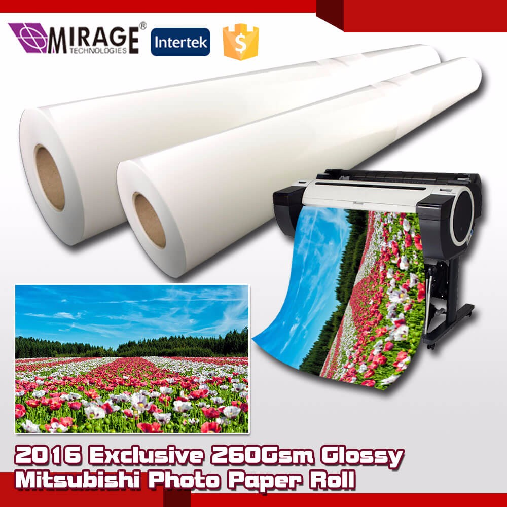 Exclusive 260Gsm Glossy Mitsubishi Photo Paper Roll