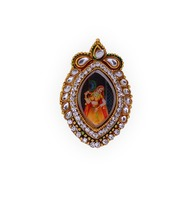 Wholesale Meera Painting Kundan Brooch